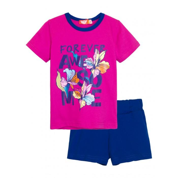 Let's Go Комплект для девочки футболка и шорты 4172