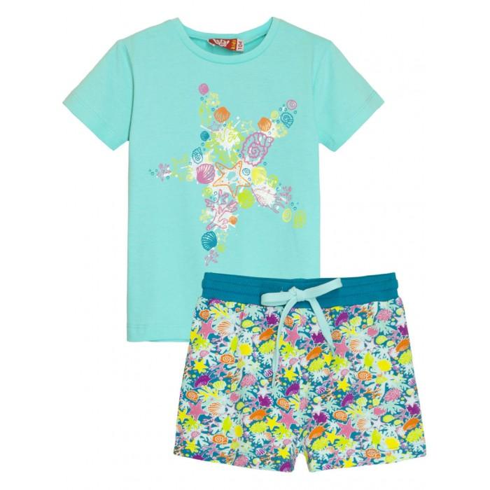 Let's Go Комплект для девочки футболка и шорты Звезда 4167