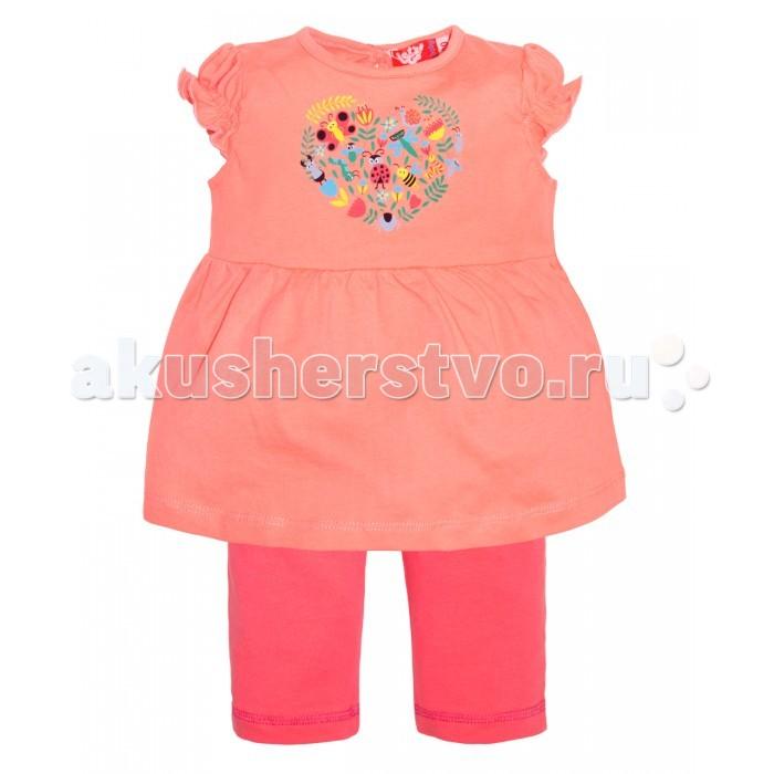 Комплекты детской одежды Lets Go Комплект для девочки (футболка+бриджи) 4132 комплект одежды для девочки let s go футболка бриджи цвет лиловый фиолетовый 4132 размер 74