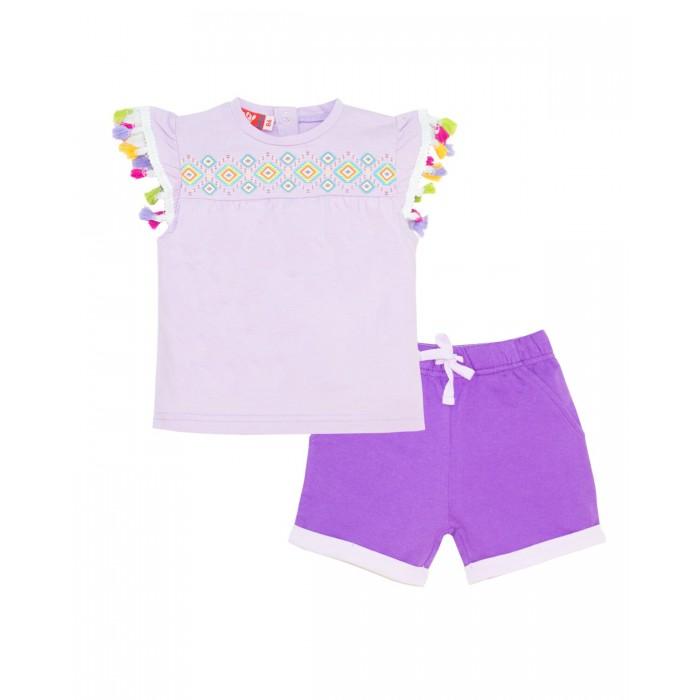 Комплекты детской одежды Lets Go Комплект для девочки (футболка+шорты) Сафари 4124