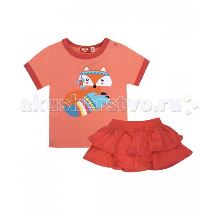 Комплекты детской одежды Lets Go Комплект для девочки (футболка+юбка) Индейцы 4135