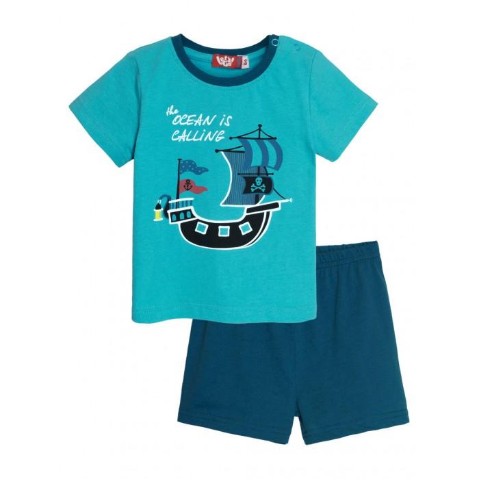 Купить Комплекты детской одежды, Let's Go Комплект для мальчика футболка и шорты 4261