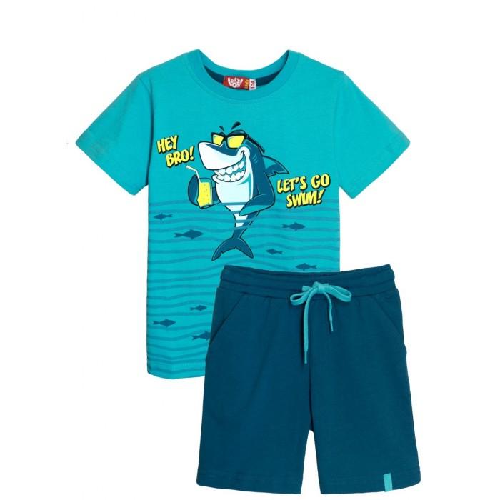Купить Комплекты детской одежды, Let's Go Комплект для мальчика футболка и шорты 4266