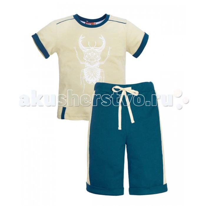 Комплекты детской одежды Lets Go Комплект для мальчика (футболка+шорты) 4231 комплект одежды для мальчика let s go футболка шорты цвет горчичный оливковый 4231 размер 98