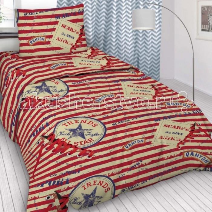 Купить Постельное белье 1.5-спальное, Постельное белье Letto 1.5-спальное Звезда (3 предмета)
