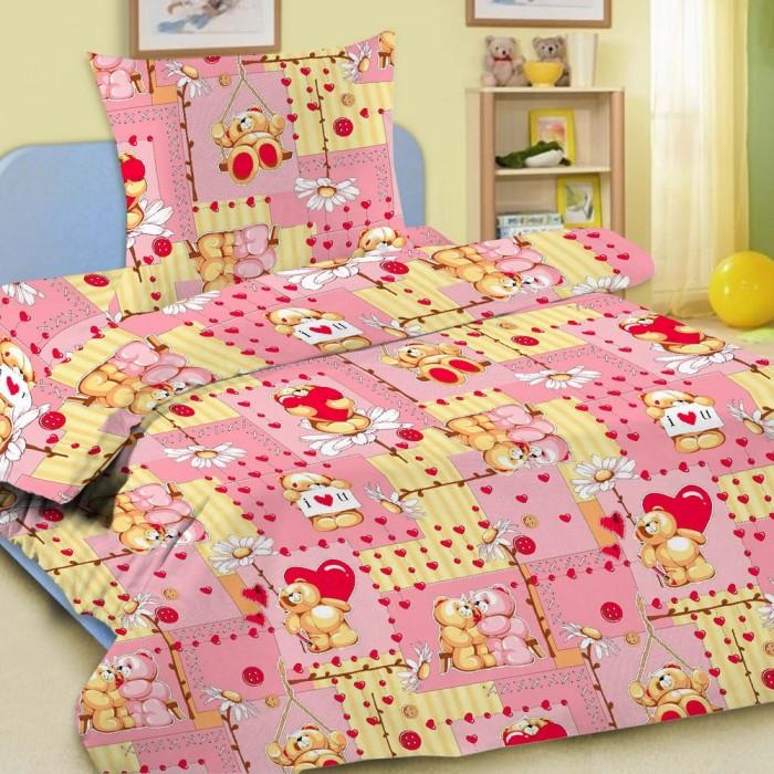 Купить Постельное белье 1.5-спальное, Постельное белье Letto Мишки (3 предмета)
