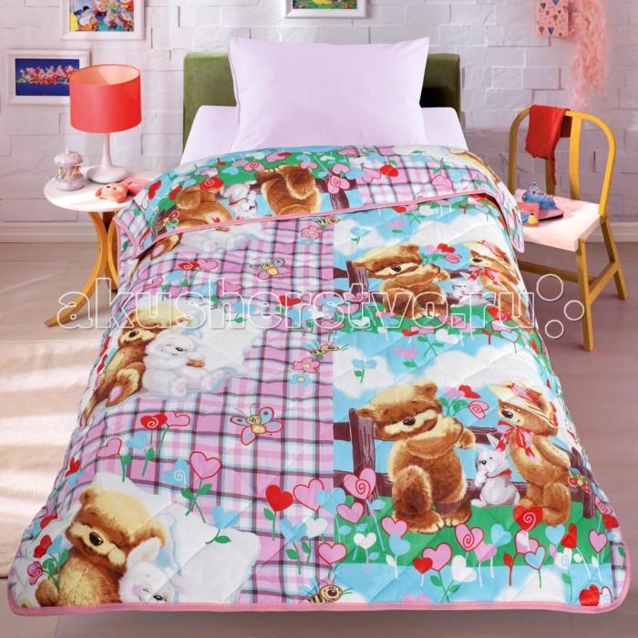 Плед Letto Покрывало-одеяло Мишки и ЗайкаПокрывало-одеяло Мишки и ЗайкаПлед Letto Покрывало-одеяло Мишки и Зайка - легкое оригинальное покрывало в чехле будет радовать вас и вашего малыша в течение всего года. Сидеть на таком покрывале будет приятно и комфортно - ведь оно выполнено из 100% хлопка. К тому же покрывало можно использовать и как одеяло на детскую кровать. Дизайн двусторонний. Наполнитель - силиконизированное волокно. Вашему ребенку не будет жарко под таким одеялом, а это значит он не будет раскрываться.   Оно подлежит машинной стирке при температуре 30 гр., строго на деликатном режиме.<br>