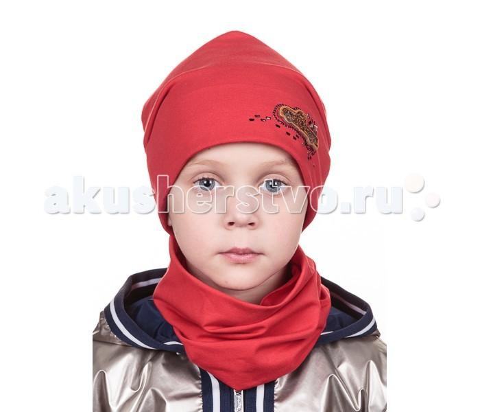 Детская одежда , Шапочки и чепчики Level Pro Kids Комплект для мальчика (шапочка и воротник-хомут) Шеврон Машинка арт: 501821 -  Шапочки и чепчики