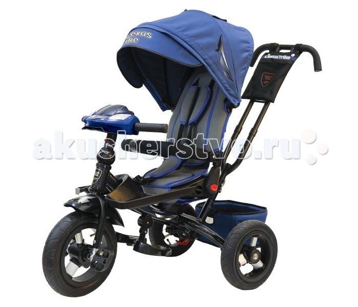 Велосипед трехколесный Lexus Trike T400M2STrike T400M2SВелосипед трехколесный Lexus Trike T400M2S с функцией смотрю на маму/смотрю на дорогу, с ручкой управления.   Особенности:  Светомузыкальная панель: 3 детские  песенки из мультфильмов, 1 мелодия автомобиля, световые и звуковые эффекты;  Металлическая рама;  Складная рулевая стойка, позволяющая максимально отклонить спинку сиденья в положении смотрю на маму;  Диск колеса из алюминия, надувные шины из резины;  Функция «свободное колесо»;  Двойная ручка - толкатель с сумочкой для мелочей;  Складные подставки для ног;  Дополнительные съемные подставки для ног;  Складной тент колясочного типа с фиксаторами положения;  Эргономичное сиденье с высокой спинкой комфорт с мягкими бортами;  Несколько положений спинки;  Сиденье регулируется горизонтально по раме;  Поворот сиденья 360 градусов;  Мягкий вкладыш - кенгуру на сидении;   Раздвижная дуга безопасности с мягкими подлокотниками;  Ремни безопасности;  Большая багажная корзина  Ножной тормоз  Диаметр переднего колеса – 30 см Диаметр задних колес - 25 см<br>