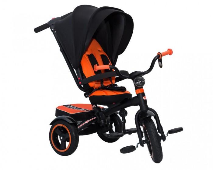 """Велосипед трехколесный Lexus Icon 5 RT VIP V5 by Natali PrigaroIcon 5 RT VIP V5 by Natali PrigaroПятая модель ICON - следующая модель за всеми 4-мя моделями ICON. Теперь ICON 5 VIP by Natali Prigaro 3-х колесный велосипед — велосипед-коляска, потому что его можно использовать для детей от 6 месяцев.   У модели ICON 5 — надувные колеса + большое сиденье + капюшон как у коляски. Инновации пятой модели - съемный капюшон как у коляски закрывает ребенка полностью. Невесомый и большой - сделан из легкой ткани с UV-защитой от солнца. Высокое мягкое сиденье, которое можно наклонить до положения не только полулежа, но и совсем лежа, повернуть лицом к маме или лицом к дороге. Но в то же время Вы сможете использовать этот велосипед до 5 лет. Оцените это в новом велосипеде ICON от RT.   ICON VIP имеет управляемую ручку """"Телескопик"""", усиленную и прочную. Новое качество, которое мы довели до совершенства: мягкая рукоятка эргономичной формы с помощью кнопки регулируется в любом положении на 360 градусов. Вы сможете настроить ее под себя как Вам захочется.  Очень длинная и удобная Родительская ручка Телескопик установлена под идеальным углом и подходит под любой рост взрослого - Вы оцените эргономику. Созданная по инновационным технологиям телескопическая ручка перемещается легко и быстро, достаточно только нажать на кнопку. Вы сможете настроить ручку под любой рост взрослого.  Но мы не забыли и о маленьких братишках и сестренках. Нижний уровень телескопической ручки настроен таким образом, чтобы любой маленький помощник смог толкать и везти велосипед.  Также легко и удобно можно настроить рукоятку ручки. Теперь Вы можете преодолевать бордюры и одновременно поворачивать велосипед направо и налево. Мощный технически продуманный узел на раме теперь позволяет это делать.  5-ти точечные ремни безопасности. Ручка легко вставляется в раму по системе """"до щелчка"""" и затягивается надежным усиленным эксцентриком. Снять ручку можно легко и просто, нажав красную кнопку внизу.  Установить задние"""