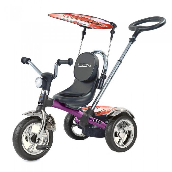 """Велосипед трехколесный Lexus Icon 4 RT originalIcon 4 RT originalLexus trike original RT- ICON 4 RT original это первый 3-х колесный велосипед -велосипед-коляска, потому что его можно использовать для детей от 6 месяцев до 5 лет. У модели ICON 4 RT original- непрокалываемые колеса EVA+маленькое сиденье.  Особенности:  ПВХ колеса диаметром 11 и 9 дюймов   повернуть лицом к маме или лицом к дороге рама легкий карбон и прочный материал. По своей прочности карбон не уступает даже многим металлам. А по весу он на 40% легче стали и на 20% легче алюминия.  имеет управляемую ручку """"Телескопик"""", установлена под идеальным углом и подходит под любой рост взрослого Теперь Вы можете преодолевать бордюры и одновременно поворачивать велосипед направо и налево. Мощный технически продуманный узел на раме теперь позволяет это делать. Регулируемая высота ручки  Сиденье и имеет 8 положений ближе или дальше от руля. Прост в сборке  на задние колеса установлены амортизаторы, которые дают плавность хода.    Функция- «свободное колесо». Пластиковый диск расположен на переднем колесе.Небольшим усилием Вы можете вытаскивать диск наружу или ставить на место. Таким образом, Вы фиксируете педали и малыш может кататься на велосипеде, а можно дать им свободный ход и крутить педали взад-вперед, когда велосипедом управляет взрослый.  Мы впервые создали уникальные подножки-крылья, которые может закрывать и открывать малыш самостоятельно,без помощи мамы:закрывать,когда они не нужны и раскрывать, когда ножки малыша устали. Они установлены на вилке переднего колеса-как утверждают все детские специалисты- это намного удобнее и полезно для роста и развития ног малышей.<br>"""