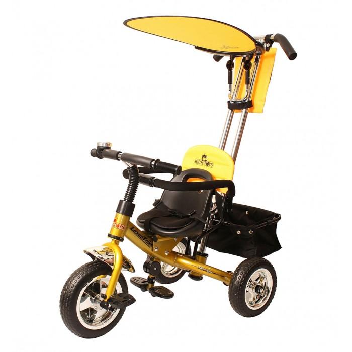 Велосипед трехколесный Jetem Next GenerationNext GenerationВелосипед Lexus Jetem Trike Next в новой вариации. Модель Lexus Jetem Trike Next Generation отличает наличие поворотной родительской ручки, тяга которой спрятана внутрь рамы, а также съемного бампера-ограничителя с мягкими и приятными накладками, который обеспечит дополнительную безопасность Вашему малышу. Данная модель отличается от модели Lexus Trike Next тем, что козырек у нее выполнен в однотонном цвете без принта.   Особенности Lexus Jetem Trike Next Generation: Предназначен для детей от 1,5 года до 3-4 лет (до 25 кг) Стальная облегченная хромированная рама 5-ти точечные регулируемые ремни безопасности с мягкими накладками в цвет рамы Хромированные колеса из плотной резины, не подкачиваются Металлическая хромированная поворотная ручка - толкатель Переднее колесо с фиксацией Удобное эргономичное сиденье из черного пластика с мягкой тканевой накладкой с пропиткой Сиденье двигается в 3 положениях вперед-назад, увеличивая расстояние до педали по мере того, как растет нога ребенка Педали – рифлёные, пластиковые Съемная подножка с ребристыми резиновыми накладками Звонкий хромированный звонок Козырек - тент - трансформер складной, тканевый Подушка под голову малыша На ручку-толкатель крепится рюкзачок с клапаном на «липучке» и 2 накладными сетчатыми кармашками Большая багажная корзинка тканевая, с жёстким дном и сеточками по бокам крепится сзади Материал: металл, пластмасса  Размер велосипеда: 86 х 50 х 100h см Диаметр переднего колеса: 25 см Диаметр заднего колеса: 21,5 см Размер упаковки: 45 х 55 х 27 см Максимальный вес: 9 кг  Комплектация: козырёк-тент багажная корзина рюкзак шестигранный и гаечный ключ, крепёжные детали иллюстрированной инструкцией<br>