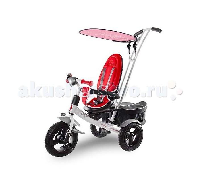 Велосипед трехколесный Lexus LXS CityLXS CityТрехколесный велосипед R-Toys LXS City с управляемой родительской ручкой и удобной корзинкой для игрушек. Регулируемый тент защищает малыша от солнца и дождя.  Характеристики: Рекомендуемый возраст: от 1 до 4 лет Родительская ручка: Управляет движением руля. Съемная. Регулируется по высоте.  Сиденье: Каркасная спинка из пластика (крепится к сиденью одним движением). Мягкий съемный чехол, надежно прилегающий к сиденью.  Колеса: Увеличенные надувные колеса. С закрытыми подшипниками. Крылья на всех колесах.  Защитный тент: Из прозрачной микрофибры с рисунком (наблюдать за безопасностью малыша стало еще удобнее) Безопасность: Раздвижной бампер безопасности. Мягкие трехточечные ремни безопасности.  Подставки для ног: Съемные. Большие с измененным углом наклона.  Дизайн воплощен в оригинальных рисунках защитного тента и дополнен соответствующей символикой на раме. Вместительная съемная двойная багажная сумка с клапанами выдерживает еще больше груза (до 2,5 кг) Система блокировки руля Звонок<br>