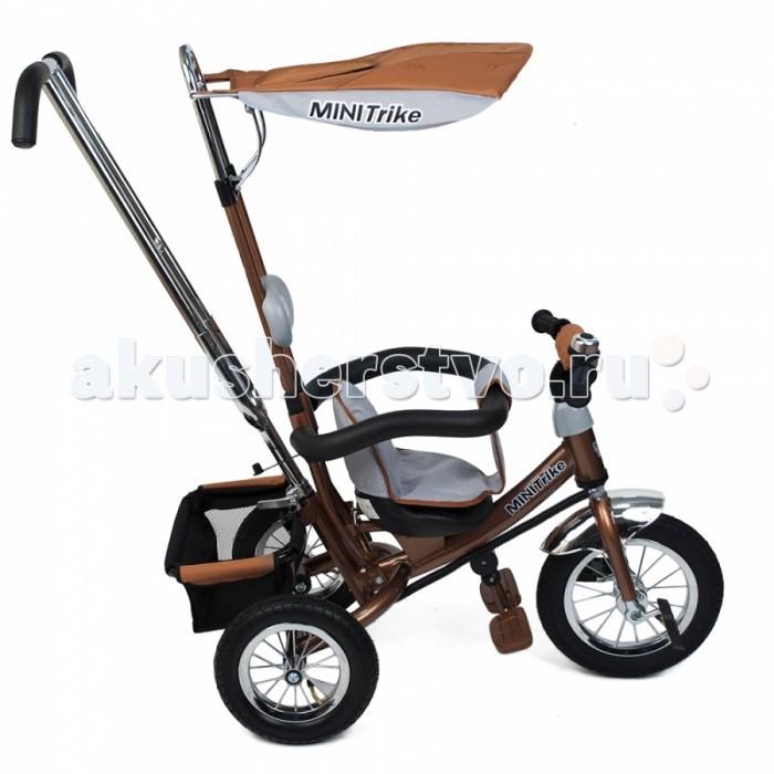 Велосипед трехколесный Mars Mini Trike с  управляемой ручкойMini Trike с  управляемой ручкойВелосипед трехколесный Mini Trike LT-950 A надувные колеса на спицах 1210  Трехколесный велосипед Mini Trike с управляемой родительской ручкой и удобной корзинкой для  игрушек. Регулируемый тент защищает малыша от солнца и дождя. Данная модель  ничем не отличается от своего предшественника - Lexx Trike.   Характеристики Mini Trike:   Надувные колеса со спицами  Стальная облегченная рама  Двойная хромированная родительская ручка управления  Раздвижной барьер безопасности  Комфортное регулируемое сиденье с мягким вкладышем  На руле мягкая поролоновая накладка для защиты головы ребёнка  Подголовник  Складная подножка с противоскользящими насечками  Регулируемый тент  На руле металлический звонок  На родительской ручке два кармашка  Бесшумные надувные колеса Багажник  Размеры (дхшхв): 84 х 47 х 105 см  Вес: 12.4 кг<br>