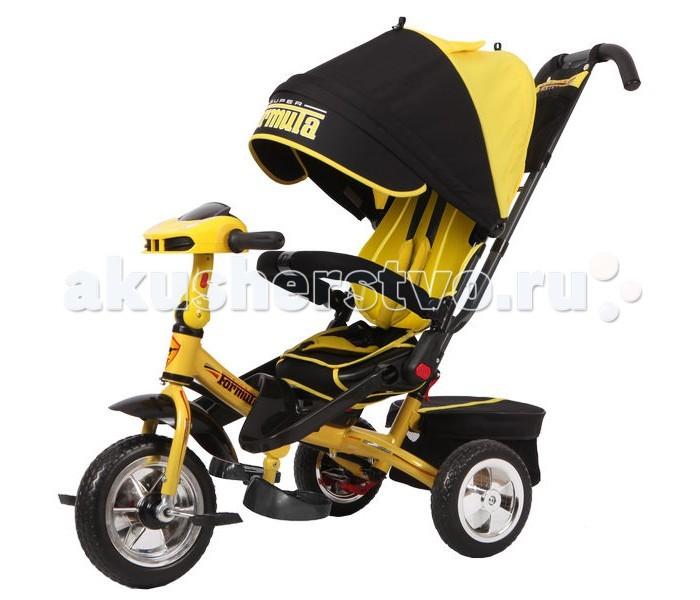Велосипед трехколесный Super Formula SF3SF3Трехколесный велосипед Super Formula SF3  Трехколесный велосипед Super Formula прекрасно подойдет для прогулок как в холодные зимние, так и в жаркие летние дни Выполнен велосипед из легких, но прочных и высококачественных материалов, что гарантирует его надежность и долгий срок службы. Благодаря конструкции с двумя задними колесами, родители могут без особой опаски позволить ребенку самостоятельно водить данный велосипед. Выполнен велосипед в приятном черном цвете и украшен яркими наклейками и надписями С помощью длинной ручки, позади данного детского транспорта, родители могут легко управлять им, регулируя направления движения. Козырек, изготовленный из плотной ткани, защитит малыша от осадков, а также от сильных солнечных лучей Вместительная корзина с закрывающейся крышкой позволит взять с собой на прогулку все необходимое, а также любимые игрушки малыша А регулируемые ремни безопасности обезопасят ребенка от падений и травм. Световые и звуковые эффекты, сделают прогулки еще интереснее и увлекательнее.  Возраст: от 18 месяцев Комплект: велосипед, козырек, корзина, родительская ручка, брелок. Допустимый вес эксплуатации: 35 кг. Размер велосипеда: 110 х 53 х 110 см. Вес: 10 кг. Диаметр переднего колеса: 25.4 см. Диаметр заднего колеса: 20.3 см. Поворот сиденья: 180 градусов. Подставка для ног: складная. Съемная крыша: 2 сложения.<br>