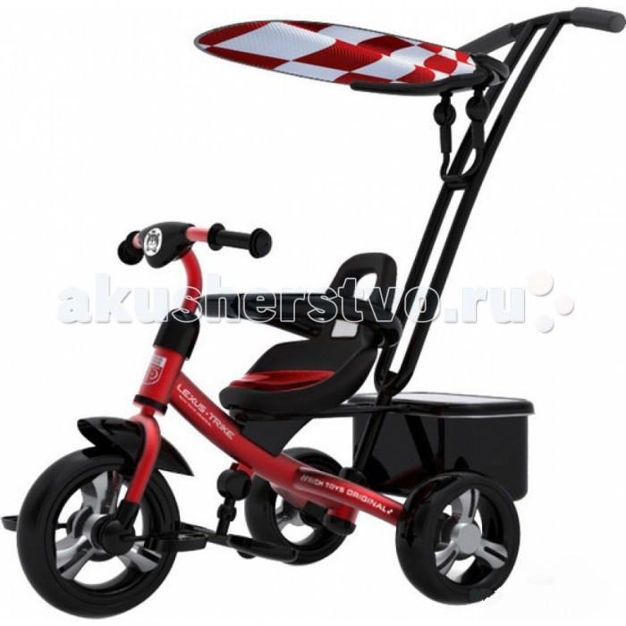 Велосипед трехколесный Lexus Trike Next 2014Trike Next 2014Трехколесный велосипед Lexus Trike Next с управляемой родительской ручкой и удобной корзинкой для игрушек. Регулируемый тент защищает малыша от солнца и дождя.  Характеристики: легкая и быстрая сборка с помощью всего двух инструментов, которые входят в комплект  ручка-толкатель - функция регулировки высоты и измененный угол наклона позволяет ногам родителей не задевать багажную сумку  сидение регулируется по горизонтали в трех положениях и имеет удобный съемный матрас, который надежно крепится к сиденью липучками  бампер безопасности расположен на уровне груди ребенка для его большей защиты  колёса - закрытые подшипники обеспечивают легкое и плавное катание, а новый материал из полиуретана гарантирует устойчивость к стиранию  подножка - увеличена платформа и изменен угол наклона для максимального удобства ребенка багажная сумка выдерживает еще больше груза (до 2, 5 кг) благодаря обновленной системе крепежа к сидению  защита от подделок - объемное тиснение, выполненное в форме узнаваемого медвежонка на руле и на спинке сиденья легко и эффектно выделяет оригинал модели среди множества подобных моделей  велосипед сохранил и улучшил основные преимущества прошлой моделей: функция «свободное колесо», возможность прокручивания педалей без движения велосипеда, регулируемая по высоте ручка  ремни безопасности 3-х точечные   Переднее колесо 10 дюймов  Задние колеса 8 дюймов  Максимальная нагрузка 50 кг<br>