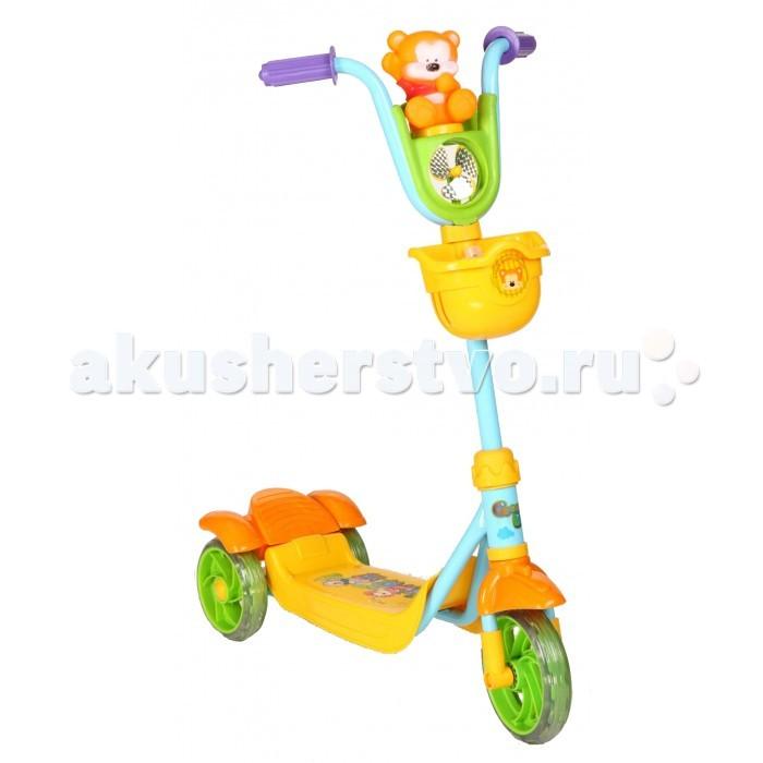 Трехколесный самокат Leader Kids трехколесный XG5102трехколесный XG5102Самокат трехколесный Leader Kids с веселым мишкой будет верным товарищем вашему ребенку во время прогулок по городу.   Особенности:    На руле симпатичная игрушка Мишка  С пластиковым обтекателем в виде пропеллера, крутящегося при движении на ветру  Силиконовые колеса обеспечивают плавное, без тряски движение.   Широкая подставка для ног, позволяет ребенку удобно встать обеими ножками во время движения.   Веселый мишка с пропеллером развеселят вашего ребенка и сделают прогулку еще более забавной и развлекательной.  В удобную корзинку можно положить столь необходимые игрушки.   Конструкция трехколесного самоката позволяет Вашему ребенку уверено держаться на нем, разгоняться отталкиваться ногой, выполнять повороты и тормозить.   Диаметр колеса: 140 мм Максимальная нагрузка: 20 кг<br>