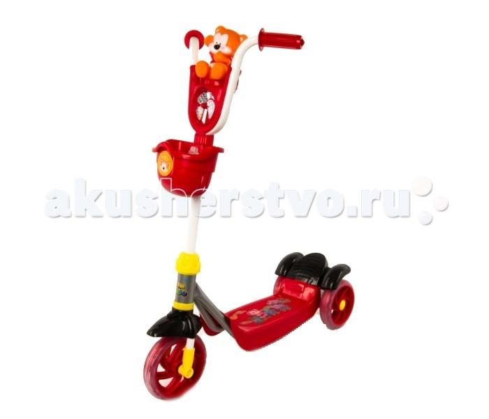 Самокат Leader Kids трехколесный XG5102трехколесный XG5102Самокат трехколесный Leader Kids с веселым мишкой будет верным товарищем вашему ребенку во время прогулок по городу.   Особенности:    На руле симпатичная игрушка Мишка  С пластиковым обтекателем в виде пропеллера, крутящегося при движении на ветру  Силиконовые колеса обеспечивают плавное, без тряски движение.   Широкая подставка для ног, позволяет ребенку удобно встать обеими ножками во время движения.   Веселый мишка с пропеллером развеселят вашего ребенка и сделают прогулку еще более забавной и развлекательной.  В удобную корзинку можно положить столь необходимые игрушки.   Конструкция трехколесного самоката позволяет Вашему ребенку уверено держаться на нем, разгоняться отталкиваться ногой, выполнять повороты и тормозить.   Диаметр колеса: 140 мм Максимальная нагрузка: 20 кг<br>