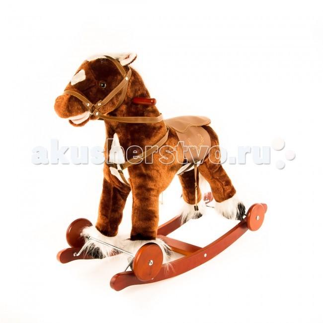 Качалка Leader Kids Лошадка JR7 52 смЛошадка JR7 52 смИгрушка сшита из мягкой ткани, у лошадки удобное седло со стременами, для рук сделаны держатели по бокам головы. Она может шевелить ртом, издавая забавные звуки, и светиться.  страна-производитель: Китай размер, см: 72 x 45 x 62 вес кг: 4 максимальная нагрузка кг до 30 на колесах шевелящийся рот материал: дерево звуковые эффекты деревянные ручки-держатели полозья с ограничителями от переворачивания мягкое сиденье со спинкой мягкая подставка для ног приятная музыка высота посадки: 52 см для малышей до 3 лет<br>