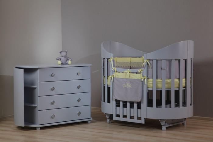 Детская мебель , Детские кроватки Liel Excellence Mona Lisa маятник продольный арт: 491001 -  Детские кроватки