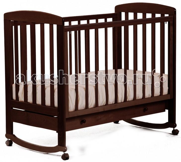 Картинка для Детская кроватка Кубаньлесстрой АБ 16.1 Ромашка качалка с ящиком