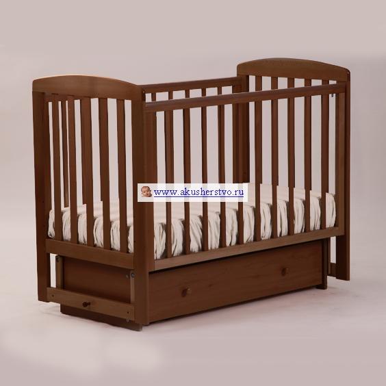 Купить Детские кроватки, Детская кроватка Кубаньлесстрой АБ 16.2 Ромашка маятник поперечный с ящиком