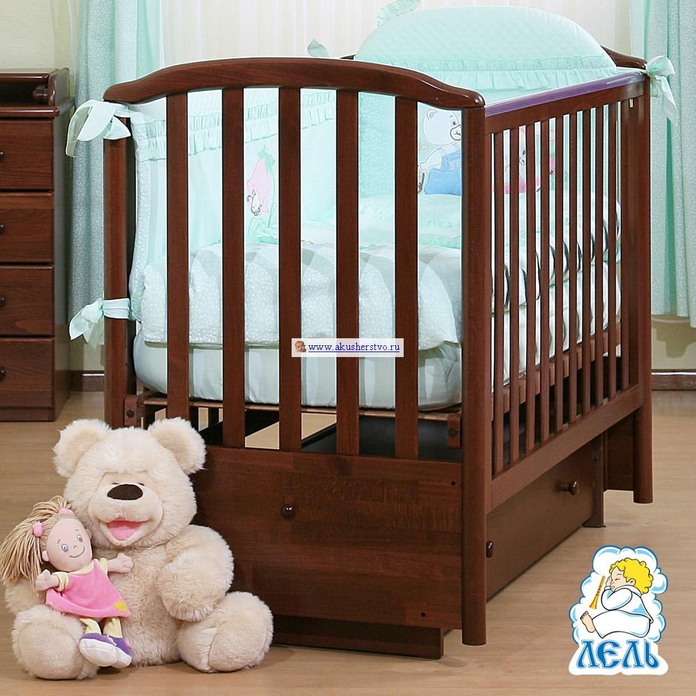 Детская кроватка Кубаньлесстрой АБ 18.2 Маргаритка маятник поперечный с ящиком