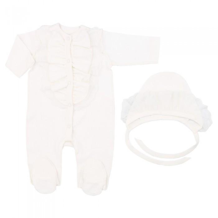 Комплекты детской одежды Linas baby Комплект для девочки (комбинезон и чепчик) linas baby комбинезон кеды роз р 56