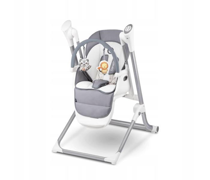 Стульчик для кормления Lionelo LO-NilesLO-NilesСтульчик для кормления Lionelo LO-Niles 3 в 1: стульчик для кормления и качели, шезлонг.  шезлонг и качели рекомендуется использовать  с первых дней жизни, весом до 9 кг стульчик для кормления для детей в возрасте от 6 месяцев до 3-4 лет (с максимальной массой тела 20 кг) регулируемая спинка раскладывается до положения лежа (независимо от сиденья – и имеет 4 степени регулировки) – это обеспечивает ребенку удобство во время приема пищи и отдыха удобная регулировка высоты стульчика (6 уровней регулировки) и подставки для ног (5 ступеней регулировки) дополнительно повышает комфорт использования изделия объемный хлопковый матрасик для новорожденных интуитивно понятный механизм складывания, помогает в удобном хранении  устойчивые ножки с нескользящими подставками регулятор качания в зависимости от веса ребенка при помощи телефона или планшета можно управлять качанием и мелодиями 12 мелодий - успокаивающая музыка и звуки природы 8 скоростей укачивания ткань приятная на ощупь, легкая в уходе<br>
