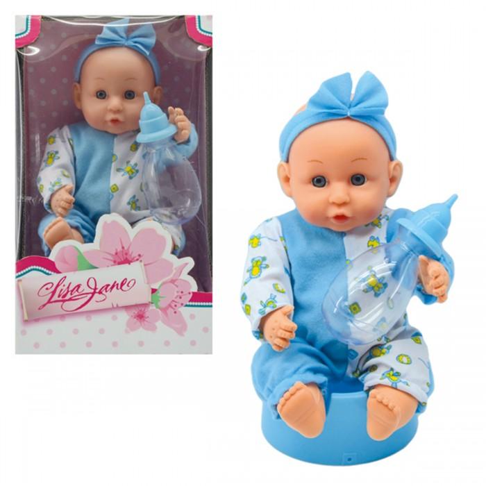 lisa jane пупс 25 см 59458 Куклы и одежда для кукол Lisa Jane Кукла-Пупс в комбинезоне с аксессуарами 27 см