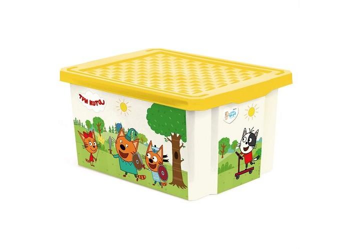 Купить Ящики для игрушек, Little Angel Ящик для хранения Три кота Игры веселье 17 л 1525