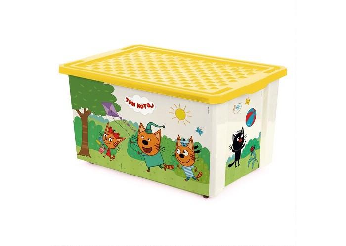 Купить Ящики для игрушек, Little Angel Ящик для хранения Три кота Игры веселье колеса 57 л 1527