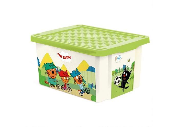 Купить Ящики для игрушек, Little Angel Ящик для хранения Три кота Игры забава 17 л 1625