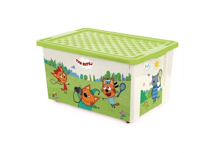 Купить Ящики для игрушек, Little Angel Ящик для хранения Три кота Игры забава колеса 57 л 1627