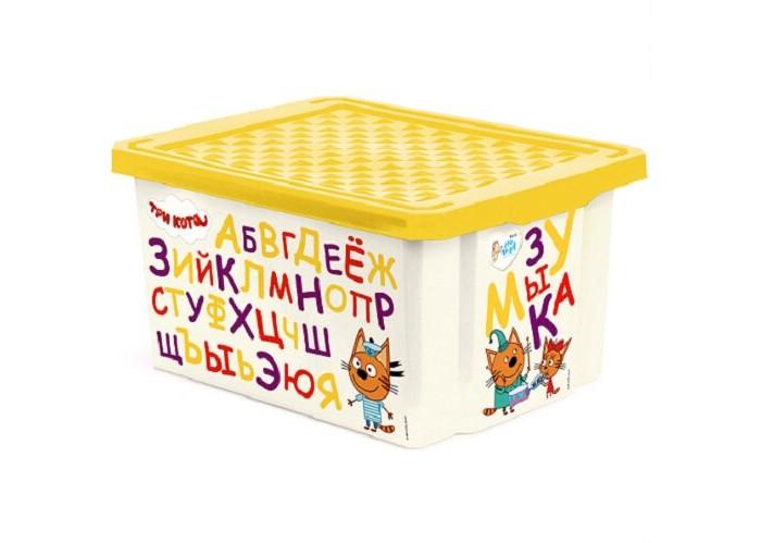 Ящики для игрушек Little Angel Ящик для хранения Три кота Обучайка читай 17 л 1225 ящики для игрушек little angel ящик для хранения три кота обучайка читай 30 л 1226