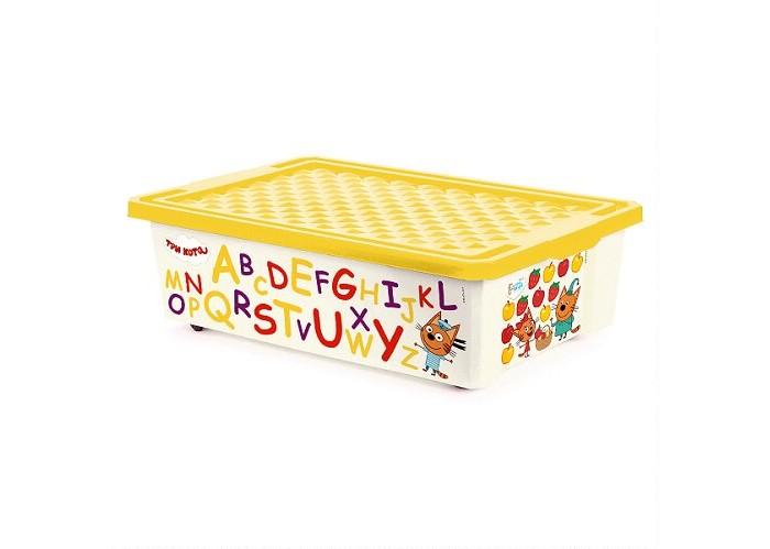 Купить Ящики для игрушек, Little Angel Ящик для хранения Три кота Обучайка читай 30 л 1226