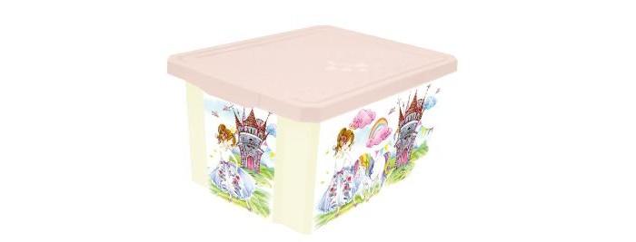 Ящики для игрушек Little Angel Ящик для хранения X-Box Сказочная принцесса 17 л little angel мусорная корзина круглая 7 л city cars little angel голубой