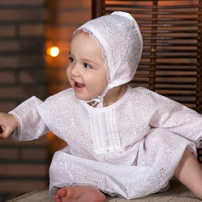 Крестильная одежда Little People для девочки 3 пр. крестильная одежда арго уголок с оборочкой 009 2н
