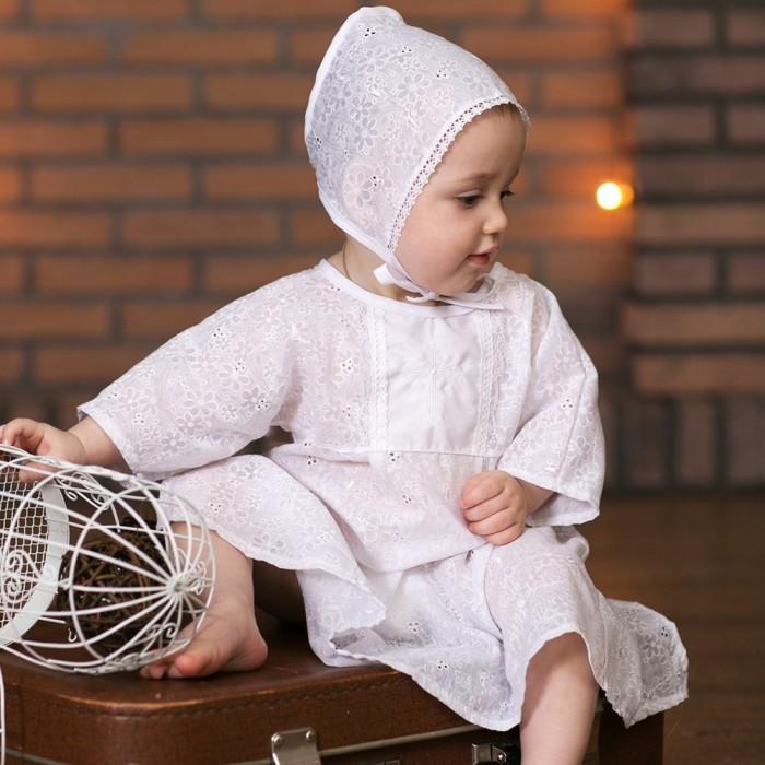 Крестильная одежда Little People Крестильный набор для мальчика (3 предмета) noble people шапка rnb широкие полоски для мальчика 19515 1238 голубой noble people
