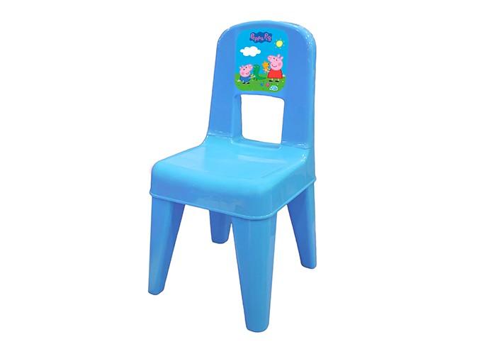 Пластиковая мебель Little Angel Детский стул Я расту Свинка Пеппа детский стул