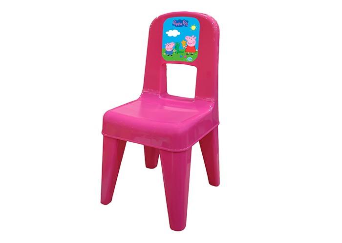 Пластиковая мебель Little Angel Детский стул Я расту Свинка Пеппа табурет little angel я расту салатовый