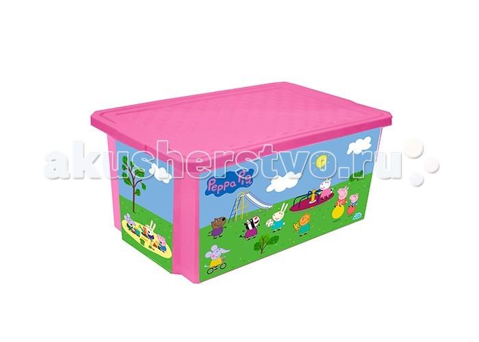 Little Angel Ящик для хранения игрушек X-Box Свинка Пеппа 57 л