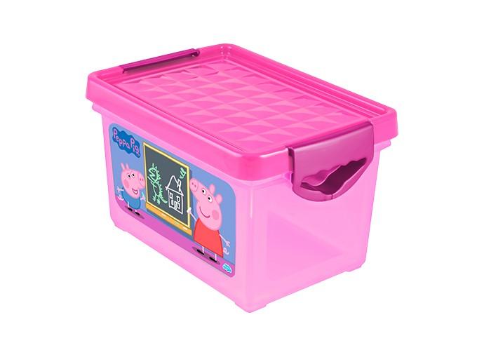 Ящики для игрушек Little Angel Ящик для хранения мини X-Box Свинка Пеппа 5.1 л ящики для игрушек little angel ящик для хранения игрушек x box свинка пеппа 57 л
