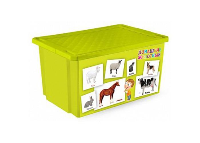 Little Angel Ящик для игрушек X-Bох Обучайка  57 л Животные
