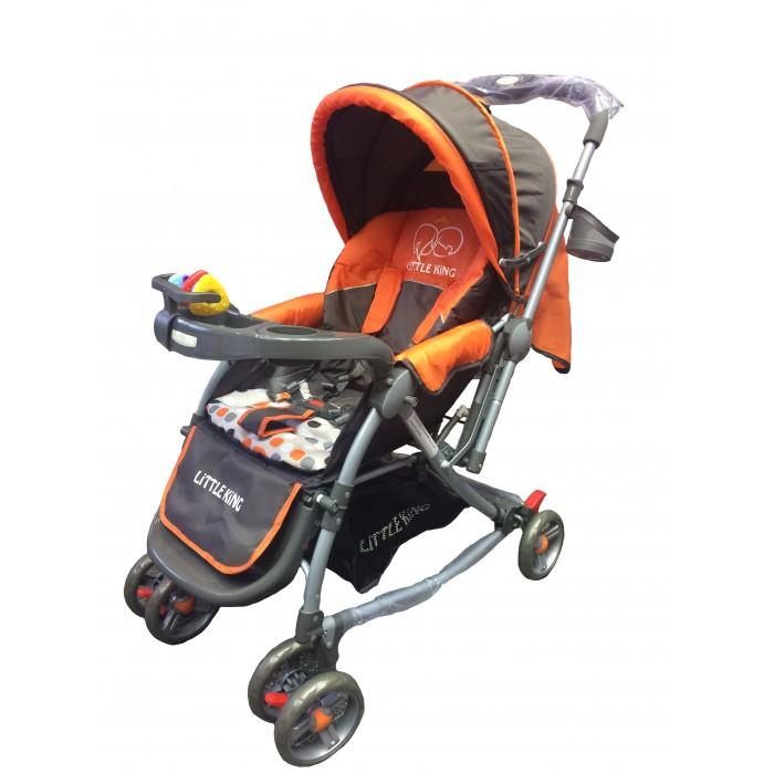 Прогулочная коляска Little King LK-217RLK-217RПрогулочная коляска LK-217R  Коляска предназначена для малышей от 6 месяцев. Основными достоинствами модели являются надежность и высокое качество используемых материалов, простота и легкость конструкции, а также удобное и комфортное управление. Легкое алюминиевое шасси способствует значительному снижению веса коляски (всего 7 кг).  Особенности: 3 положения спинки (115; 150; включая горизонтальное 170 градусов) 5-ти точечный ремень безопасности с мягкими наплечниками Жесткая спинка с плавно регулируемым наклоном Облегченная алюминиевая рама Двойные плавающие передние колеса  Диски из ударопрочного и морозостойкого пластика Колеса из вспененной искусственной резины пеноплена с добавлением каучука, по асфальту не гремят Большая корзина для вещей до 3 кг Чехол на ножки Подножка регулируется в 2-х положениях Капюшон коляски имеет специальное окно для присмотра Столик - Подставка + игрушки Перекидная ручка Москитная сетка   Легко и компактно складывается (одной рукой) Для детей от 0,5 до 3-х лет (до 30 кг).  Особенности: Максимальный допустимый вес ребенка 30 кг Механизм складывания книжка Количество колес 6 Размер упаковки 64 х 44 х 17 см Вес 8 кг<br>