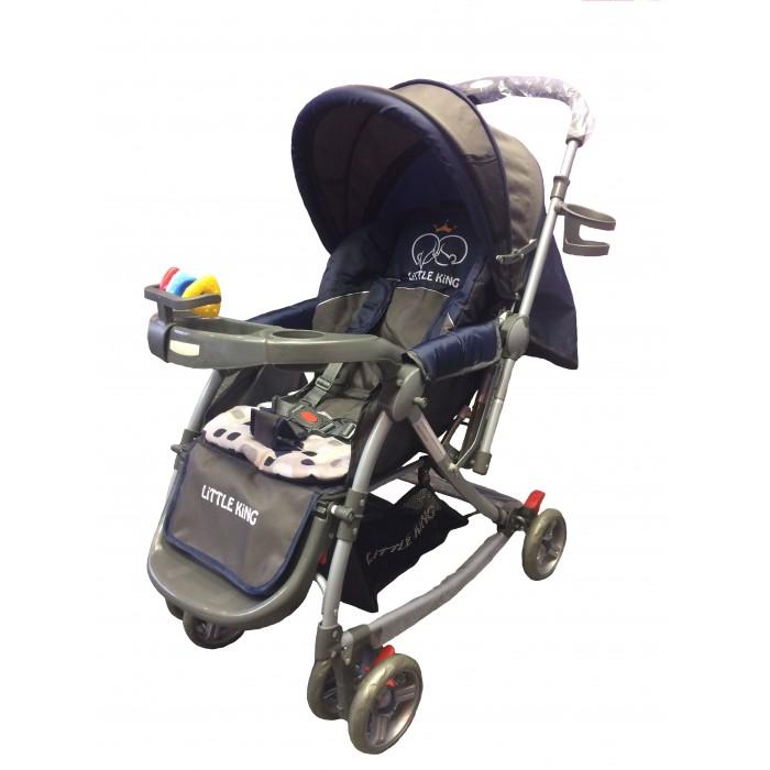 Прогулочная коляска Little King LK-217RLK-217RПрогулочная коляска LK-217R. Коляска предназначена для малышей от 6 месяцев. Основными достоинствами модели являются надежность и высокое качество используемых материалов, простота и легкость конструкции, а также удобное и комфортное управление.  Легкое алюминиевое шасси способствует значительному снижению веса коляски (всего 7 кг).  Особенности: 3 положения спинки (115; 150; включая горизонтальное 170 градусов) 5-ти точечный ремень безопасности с мягкими наплечниками Жесткая спинка с плавно регулируемым наклоном Облегченная алюминиевая рама Двойные плавающие передние колеса  Диски из ударопрочного и морозостойкого пластика Колеса из вспененной искусственной резины пеноплена с добавлением каучука, по асфальту не гремят Большая корзина для вещей до 3 кг Чехол на ножки Подножка регулируется в 2-х положениях Капюшон коляски имеет специальное окно для присмотра Столик - Подставка + игрушки Перекидная ручка Москитная сетка   Легко и компактно складывается (одной рукой) Для детей от 0,5 до 3-х лет (до 30 кг) Вес 8 кг<br>