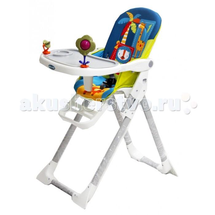 Стульчик для кормления Little King LK-301LK-301Little King Стульчик для кормления LK-301   Стульчик для кормления имеет удобную столешницу с игрушками, которая регулируется и имеет съемный поднос. Стульчик имеет подножку, которую можно регулировать в двух положениях. Максимальный вес ребенка – 18 кг, что позволяет использовать стульчик уже довольно взрослым детям.   Для удобства малыша модель оснащена: разделителем для ножек; съемным чехлом, который легко снимается и просто стирается; трехточечными ремнями безопасности.   Дизайн стульчика создан с веселыми персонажами, которые не только пробуждают аппетит у ребенка, но и стимулируют его зрительное восприятие.<br>