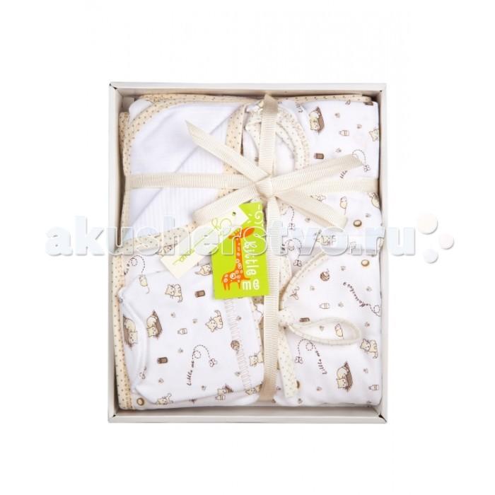 Комплекты на выписку Little me для новорожденного (5 предметов) denim high waist ripped bermuda shorts