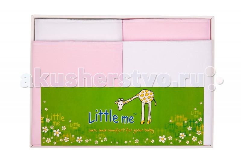 Пеленки Little me Комплект из 4 пеленок комплект трикотажных пеленок spasilk бабочка цвет розовый 76 см х 76 см 2 шт