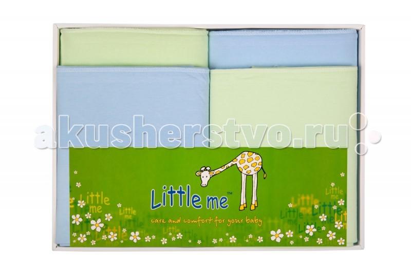 Постельные принадлежности , Пеленки Little me Комплект из 4 пеленок арт: 50911 -  Пеленки